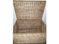 BASKET STORAGE good storage with metal feet. Excellent condition and looks lovely in any room.