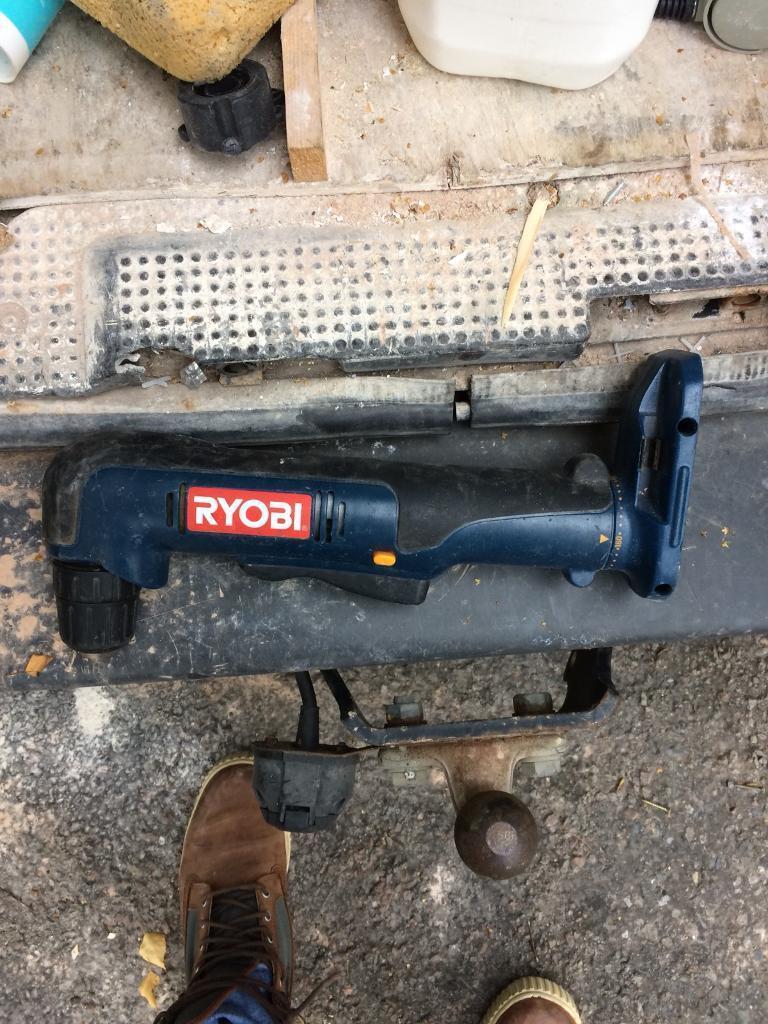 Ryobi angled drill