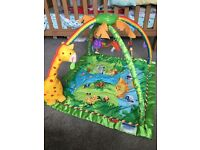 Fisher price rainforest activity play mat / gym