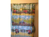 Curtains- 66 x72 -Field Days by Hiccups - 100% cotton suitable for any young farmer