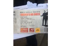 Snooker Master 2 tickets tonight face value