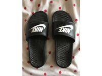Nike Sliders in Black size 10