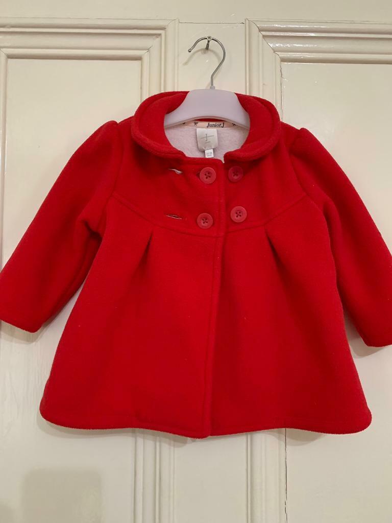 41cc6201138e Jasper conran baby girl red coat