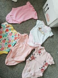 Baby girl bundle. 35 tshirt vests. 0-3 months