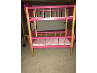 Wooden butterfly design doll bunk bed