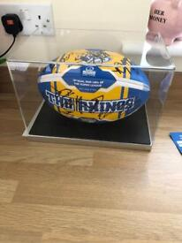 Signed and Framed Leeds Rhinos Ball 2018