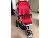 Quinny Buzz Xtra 3 wheel Pushchair and Maxi Cosi Infanct Car seat and Maxi Cosi Easybase 2