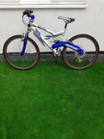 Barracuda 21 speed mountain bike front and rear full suspension Shimano shimmer gears