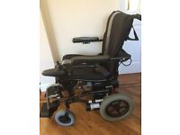 Karma powered wheelchair. Easy to assemble and disassemble. Brand new batteries.