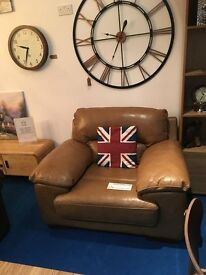 Premum Brand - Stunning Tanned Leather Arm Chair rrp £699 now only £199