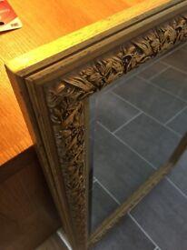 Rococo gold frame antique mirror