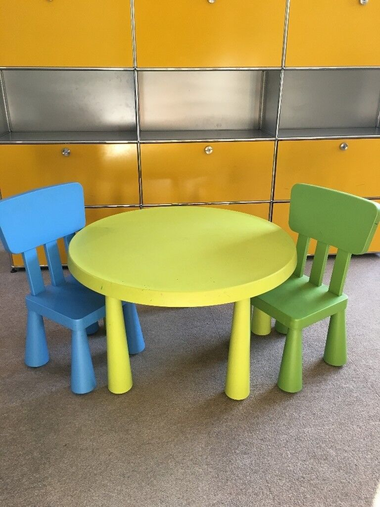 Ikea Mammut Children S Table With Two Matching Chairs Plastic  # Muebles Mammut Ikea