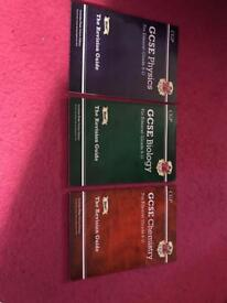 Edexcel GCSE Science new grade 9-1 revision guides and work booklets