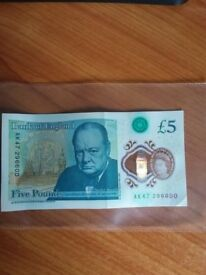 Five pound note AK47 serial number very rare