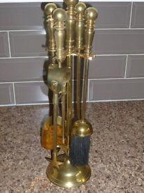 Brass fireside tools