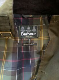 Barbour Lutz wax jacket in Olive colour