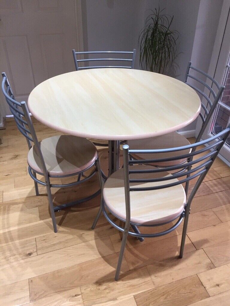 Round Wooden Dining Table 4 Chairs In Abbeydale Gloucestershire Gumtree