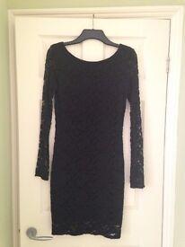 Superdry black lace dress