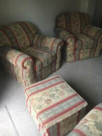 FREE Living room furniture set. Four piece suite.