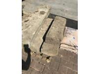 Yorkshire stone steps/curbs,lintels
