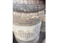 Job lots of car tyres, Toyota, Nissan, Ford, very, etc