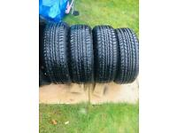 Goodyear x4 tyres size 185/60/14 82H loads of tread as new condition Eagle NCT3