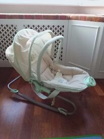 Mothercare baby bouncer plays music and vibrates