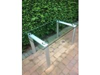 Tempered glass table outdoor
