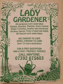 Gardening services lady gardener