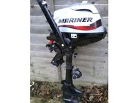 2015 MARINER 2.5HP 4 STROKE O/B ENGINE / COST £675 WITH EXTRAS / ABSOLUTELY PRISTINE CONDITION