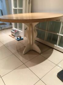 45.25 inches diameter Circular kitchen dining table with beautiful carved base