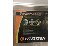 Celestron Powerseeker 50mm table top telescope with pre-assembled full size aluminium tripod