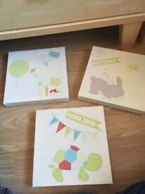 Baby room canvas x 3