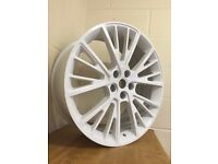"""22"""" WHITE ALLOY WHEELS TO FIT RANGE ROVER SPORT LAND ROVER DISCOVERY VW T5"""