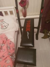 Weight bench weight bar and weights for sale
