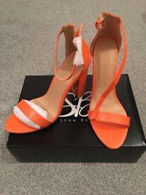Orange heels size 5