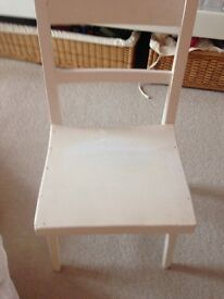 Vintage solid wooden child's chair