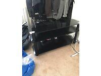 Tv stand large black 2 shelfs