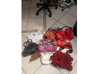 9 x handbags