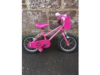 Girls pink 14 inch blossom tracker bike