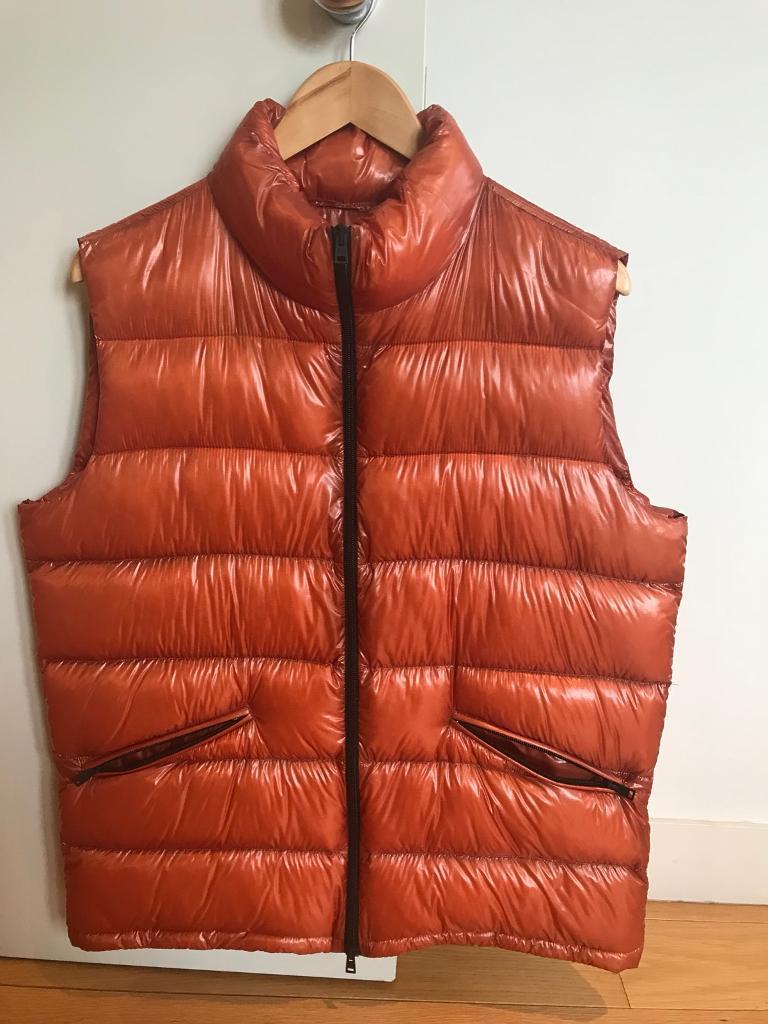 Herno man real feathers lightweight orange vest