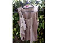 Ted Baker silk mix top. Size 10