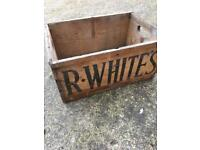 Old R WHITES wooden box £10