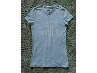 Jack Wills Blue Ladies T-Shirt Size 8 Excellent Condition