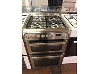 60VM STAINLESS STEEL HOTPOINT DUEL FUEL GAS COOKER