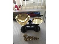 Librasco scales and brass weights
