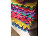Stack of alphabet foam squares