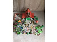 4 Playmobil Farm Sets + orchard+ allotment+ lots of animals ++