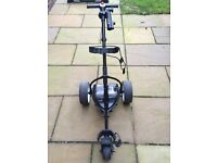 Motocaddy S1 electric trolley with 18 hole lithium battery