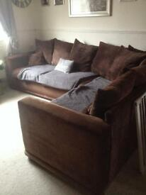 Lovely large corner sofa